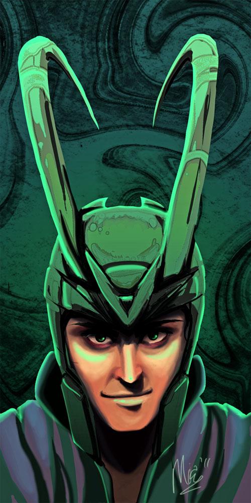 Smiling Loki