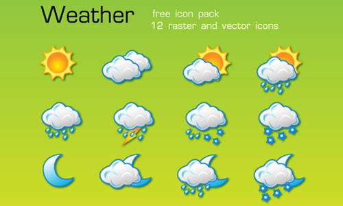 Weather Icons: Free Vector Weather Icon Pack