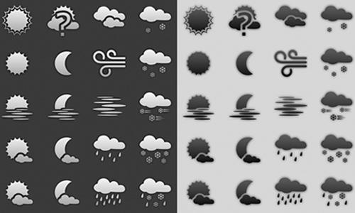 plain weather icons