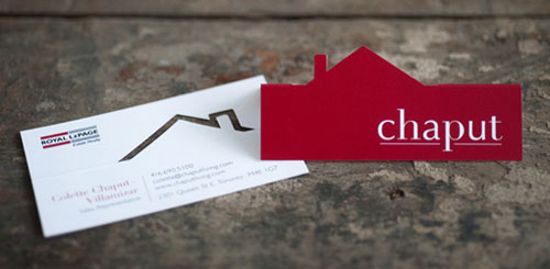 Chaput Real Estate Futuristic Unique Business Card