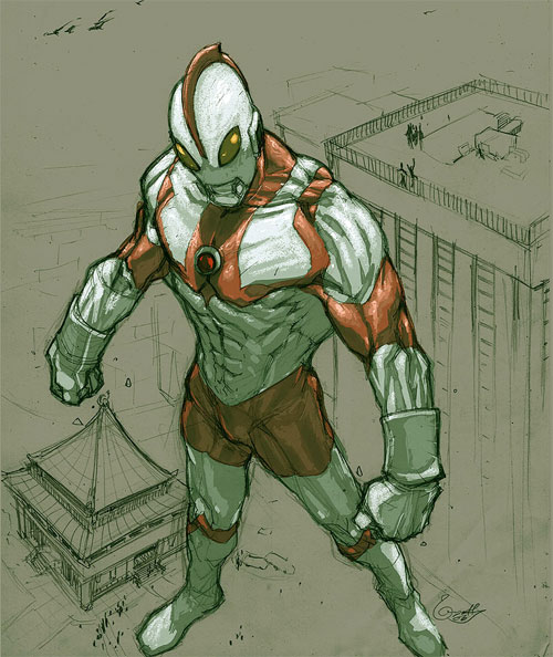 Ultraman sketch