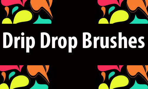 Incredible Natural Drip Photoshop Brushes
