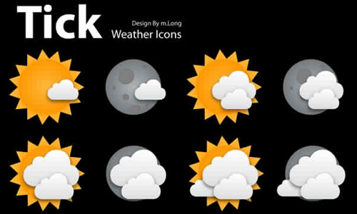 Tick Weather Icons