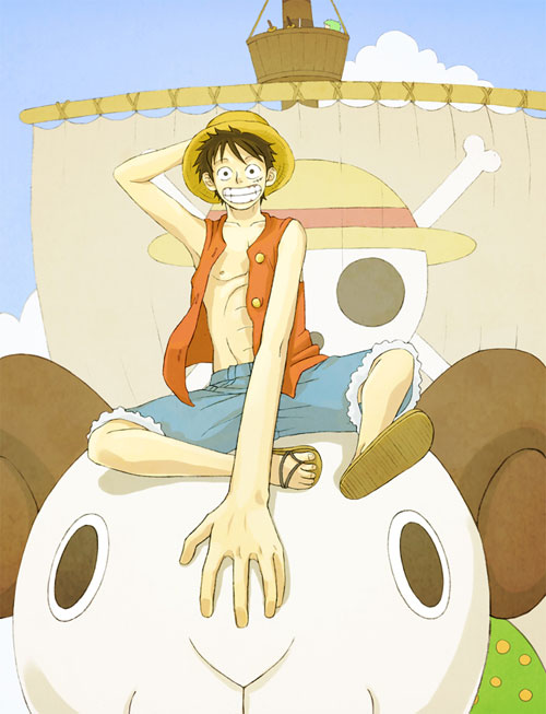 one piece - luffy and merry