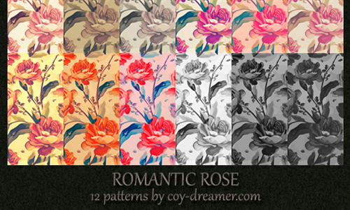 Patterns Romantic Rose