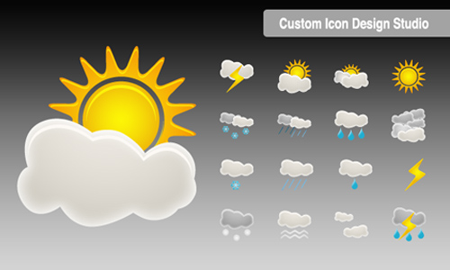 Beautiful Weather Icon Set
