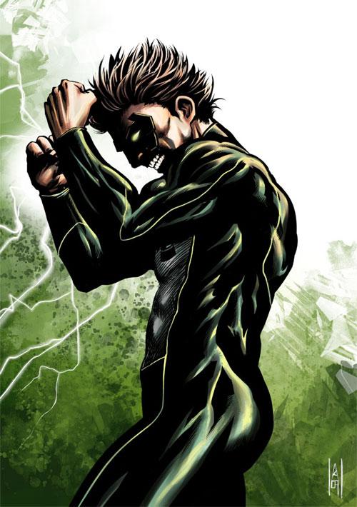 Green Lantern colored