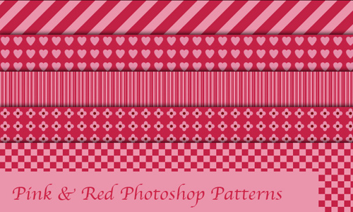 Pink and Red Photoshop Patterns