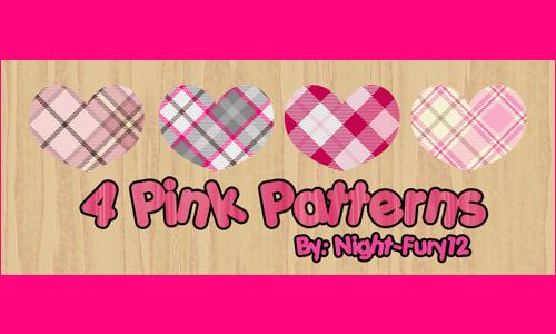 4 Pink Patterns