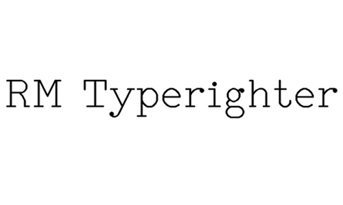 RM Typerighter font