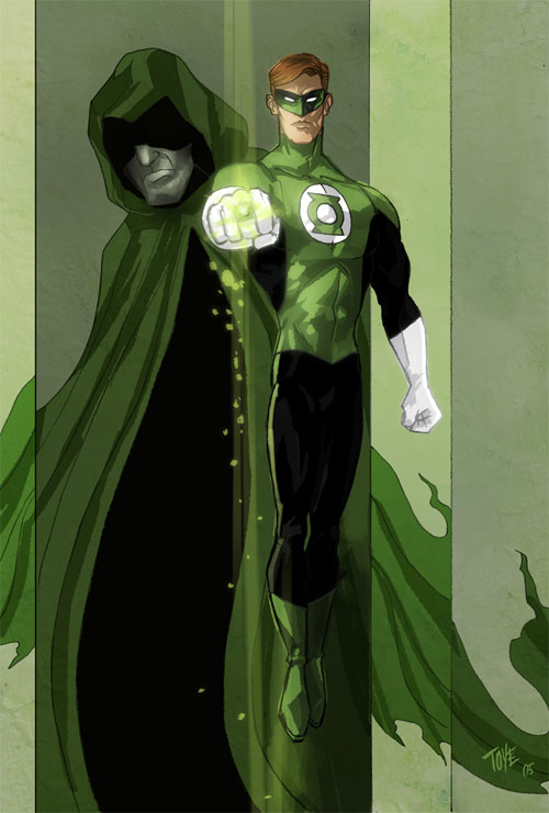 Green Lantern and Spectre