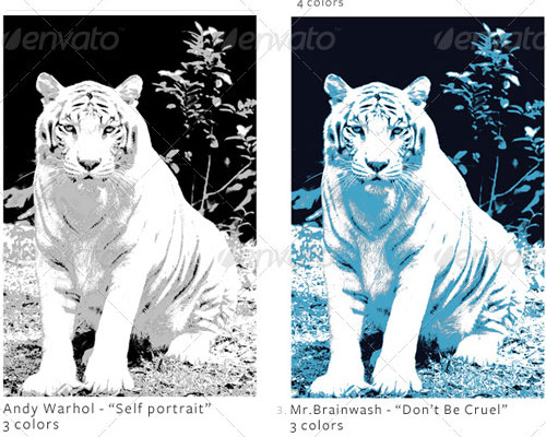 Three Poster Color Actions