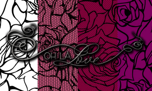 Rose Lace Pattern Backgrounds
