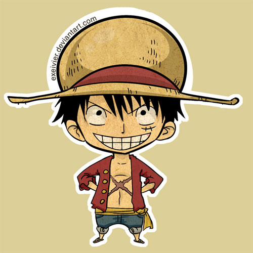 Mugiwara Luffy Sticker