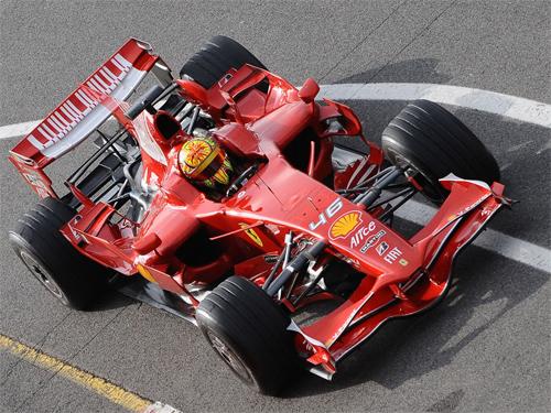 ROSSI F1 TEST