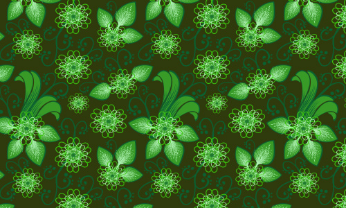 Frilly Flowers~Verde