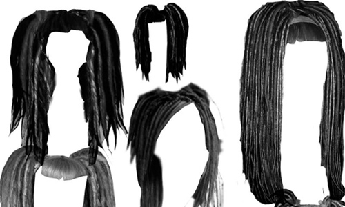 Dreadlock hair photoshop brushes
