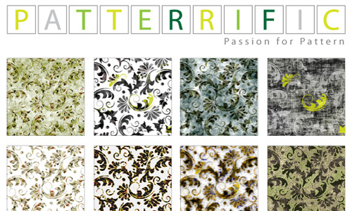 Seamless Pixel Patterns Grunge Florals