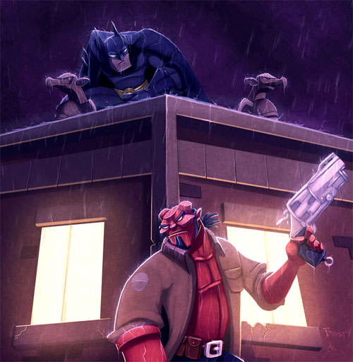 Hellboy Comes to GothamCOLORED