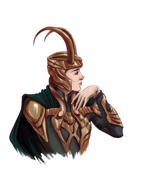 Meditating Loki