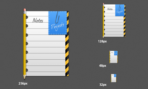Notes icons