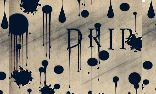 Impressive Drip Photoshop Brushes