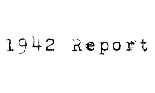 1942 Report font