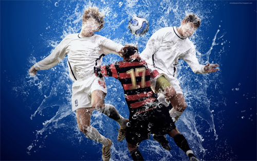 Footbal splash wallpapers