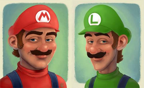 Portraits: Mario + Luigi