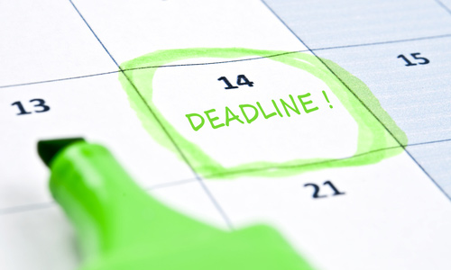 Know the exact deadline