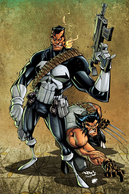 Punisher + Wolvie :: colors