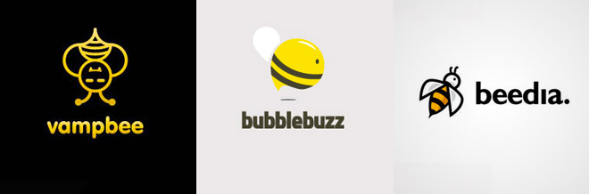 33 Cute Designs of Bee Logo