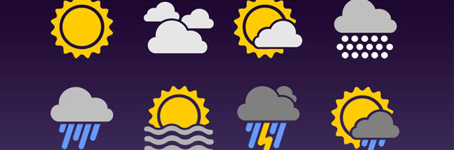 30 Sets of Free Weather Icons