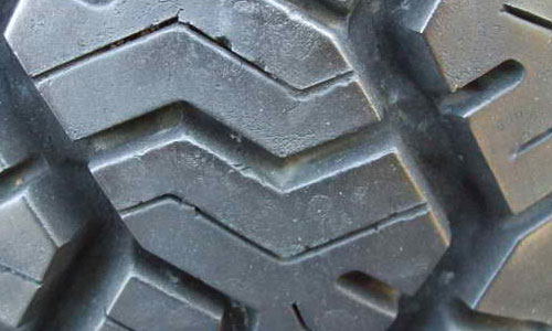 Slightly Used Tire Texture