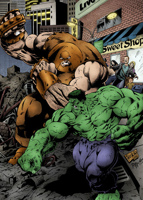 Hulk vs Juggernaut