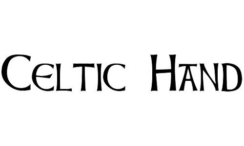 free celtic fonts hand
