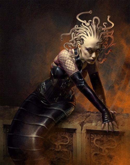 Medusa portrait artwork