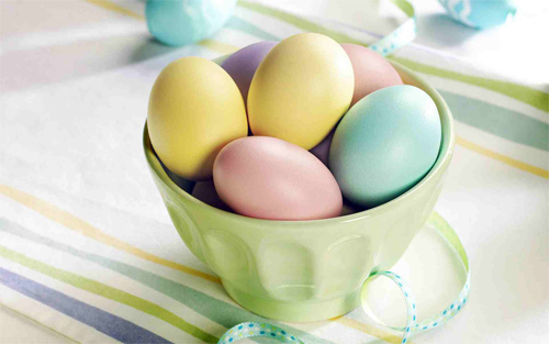 Pretty Pastel Easter Eggs Wallpaper