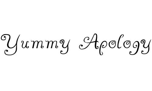 Yummy Apology font