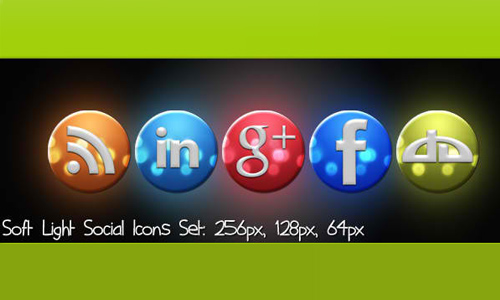 Soft Light Social Icons Set