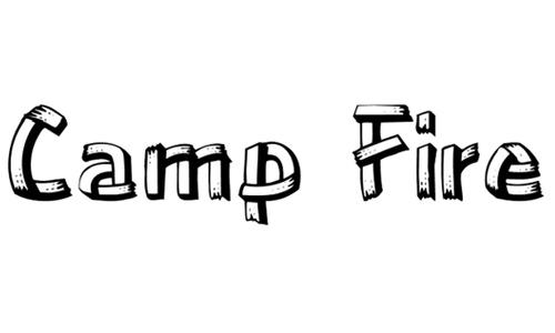Camp Fire Regular font