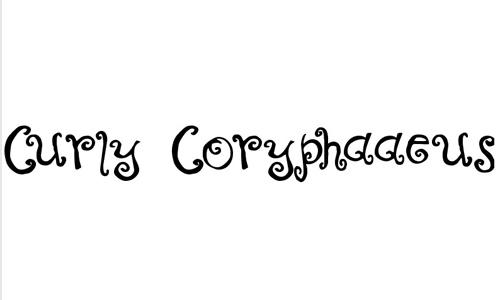 Curly Coryphaeus font