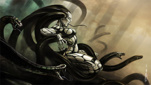 Medusa illustrations collection