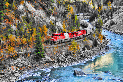 Train in the Canyon