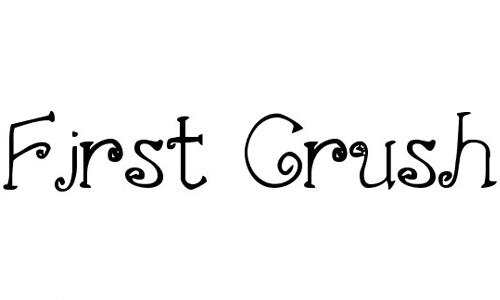 First Crush font
