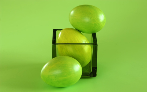 Green Easter eggs wallpapers