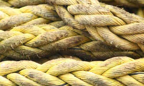 Portpatrick yellow ropes