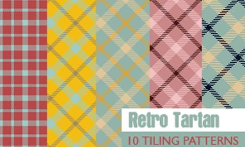 Retro Tartan 10 patterns