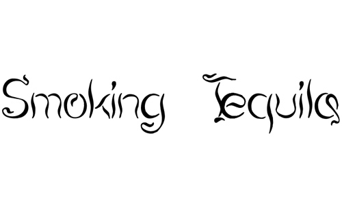 Smoking Tequila font
