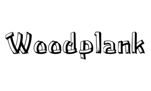 woodplank font
